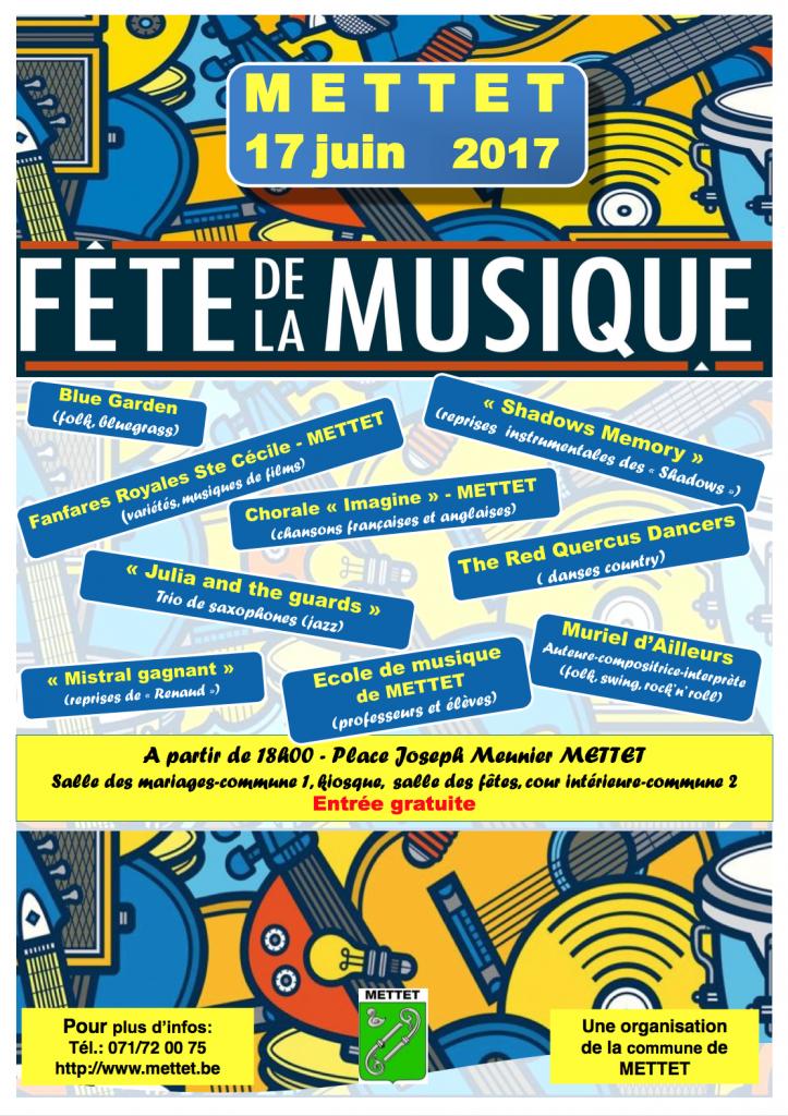 Fête de la musique 2017 Mettet