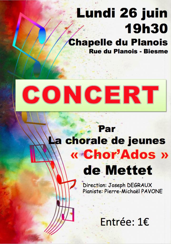 Concert Chor'Ados le 26 juin 2017