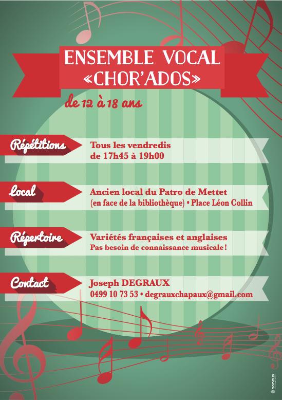 """Ensemble vocal """"Chor'Ados"""" Infos"""
