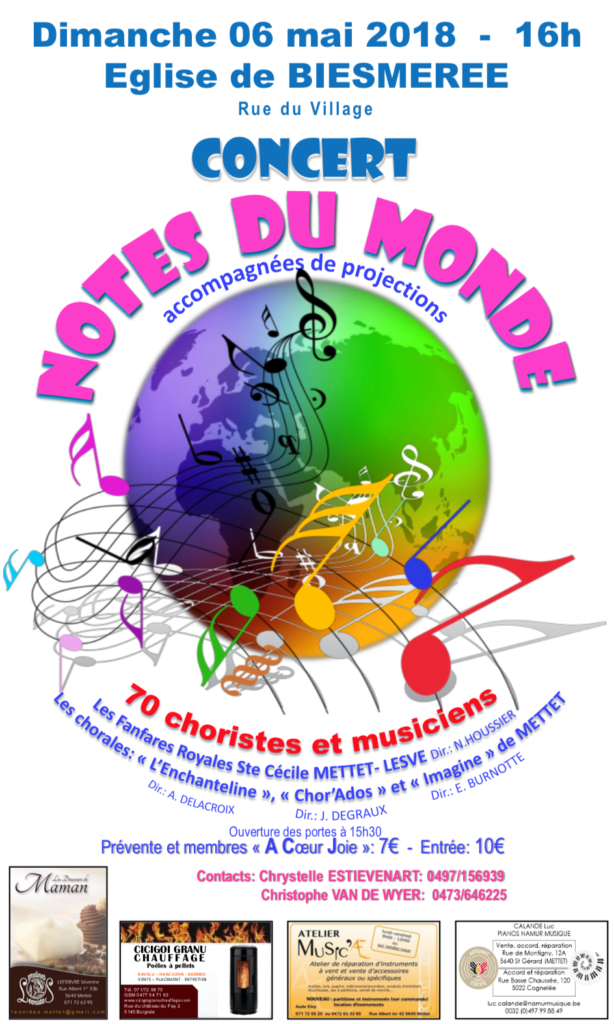 Concert Notes du monde 6 mai 2018