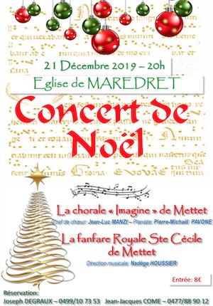 Concert Noël 2019 Mettet 21 décembre