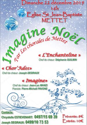 Concert Noël 2019 Mettet 22 décembre